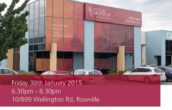 Back In Motion Rowville Physio Launch Event