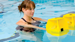 Image of woman doing hydrotherapy