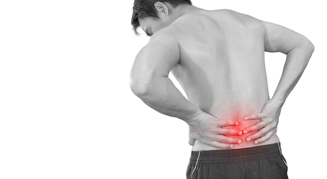 Image of a male with low back pain