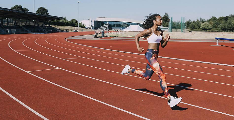 Image of a women running