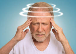 Man with dizziness
