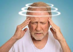 Man with dizziness