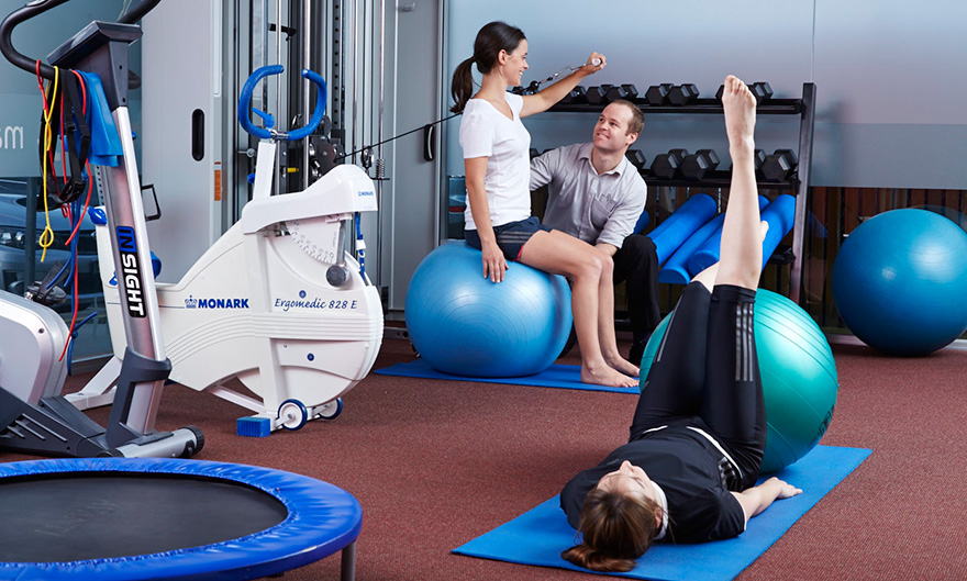 Personal training with a physio at Back In Motion